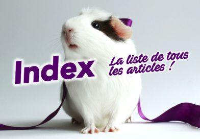 INDEX (sitemap) : la liste de tous les articles